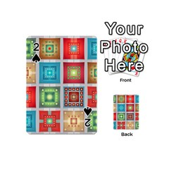 Tiles Pattern Background Colorful Playing Cards 54 (Mini)