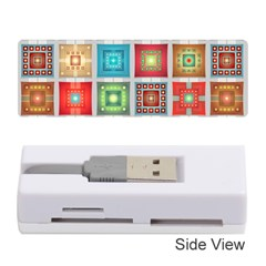 Tiles Pattern Background Colorful Memory Card Reader (Stick)