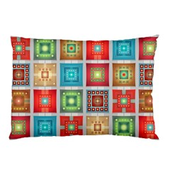Tiles Pattern Background Colorful Pillow Case (Two Sides)