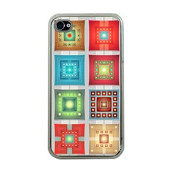 Tiles Pattern Background Colorful Apple iPhone 4 Case (Clear)
