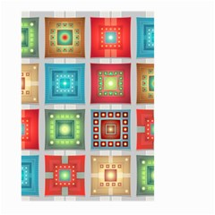 Tiles Pattern Background Colorful Large Garden Flag (two Sides)
