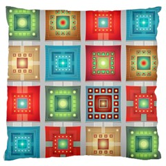 Tiles Pattern Background Colorful Large Cushion Case (Two Sides)