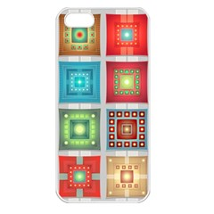 Tiles Pattern Background Colorful Apple iPhone 5 Seamless Case (White)