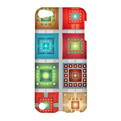 Tiles Pattern Background Colorful Apple iPod Touch 5 Hardshell Case