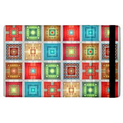 Tiles Pattern Background Colorful Apple iPad 3/4 Flip Case
