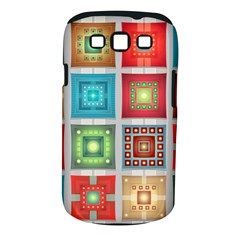 Tiles Pattern Background Colorful Samsung Galaxy S III Classic Hardshell Case (PC+Silicone)