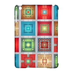 Tiles Pattern Background Colorful Apple iPad Mini Hardshell Case (Compatible with Smart Cover)