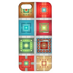 Tiles Pattern Background Colorful Apple iPhone 5 Hardshell Case with Stand