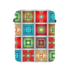 Tiles Pattern Background Colorful Apple iPad 2/3/4 Protective Soft Cases