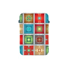 Tiles Pattern Background Colorful Apple iPad Mini Protective Soft Cases