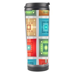 Tiles Pattern Background Colorful Travel Tumbler