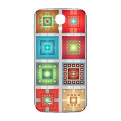 Tiles Pattern Background Colorful Samsung Galaxy S4 I9500/I9505  Hardshell Back Case