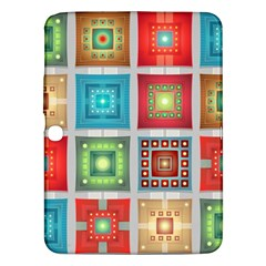 Tiles Pattern Background Colorful Samsung Galaxy Tab 3 (10.1 ) P5200 Hardshell Case