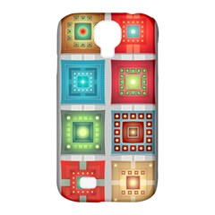 Tiles Pattern Background Colorful Samsung Galaxy S4 Classic Hardshell Case (PC+Silicone)