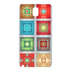Tiles Pattern Background Colorful Samsung Galaxy Note 3 N9005 Hardshell Back Case