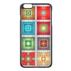 Tiles Pattern Background Colorful Apple iPhone 6 Plus/6S Plus Black Enamel Case