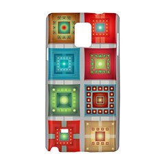 Tiles Pattern Background Colorful Samsung Galaxy Note 4 Hardshell Case
