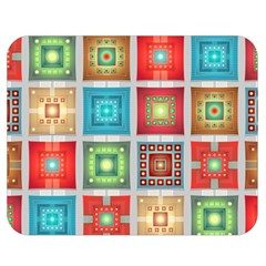 Tiles Pattern Background Colorful Double Sided Flano Blanket (Medium)
