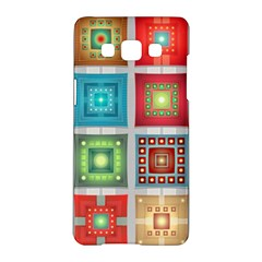 Tiles Pattern Background Colorful Samsung Galaxy A5 Hardshell Case