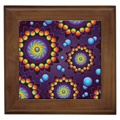 Texture Background Flower Pattern Framed Tiles