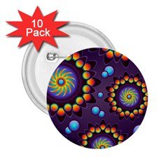 Texture Background Flower Pattern 2 25  Buttons (10 Pack)
