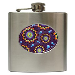 Texture Background Flower Pattern Hip Flask (6 oz)