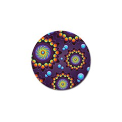 Texture Background Flower Pattern Golf Ball Marker