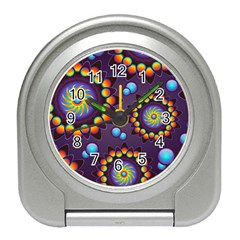 Texture Background Flower Pattern Travel Alarm Clocks