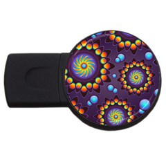 Texture Background Flower Pattern USB Flash Drive Round (4 GB)
