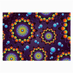 Texture Background Flower Pattern Large Glasses Cloth (2-Side)