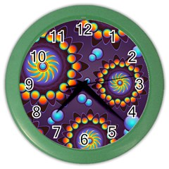 Texture Background Flower Pattern Color Wall Clocks