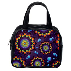Texture Background Flower Pattern Classic Handbags (One Side)