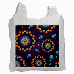 Texture Background Flower Pattern Recycle Bag (Two Side)