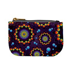 Texture Background Flower Pattern Mini Coin Purses