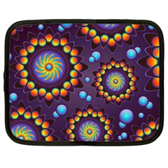 Texture Background Flower Pattern Netbook Case (xxl)