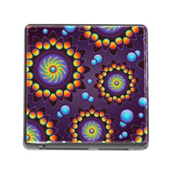 Texture Background Flower Pattern Memory Card Reader (square)
