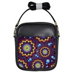Texture Background Flower Pattern Girls Sling Bags Front