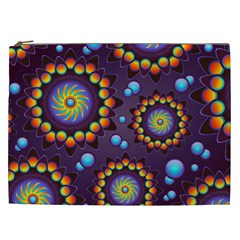 Texture Background Flower Pattern Cosmetic Bag (XXL)