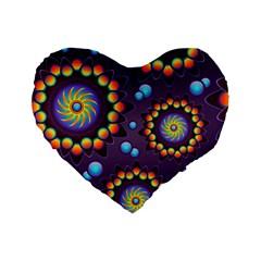 Texture Background Flower Pattern Standard 16  Premium Heart Shape Cushions