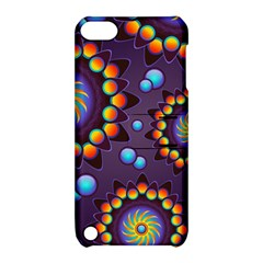 Texture Background Flower Pattern Apple iPod Touch 5 Hardshell Case with Stand