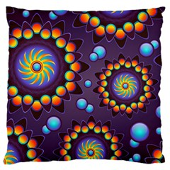 Texture Background Flower Pattern Standard Flano Cushion Case (One Side)