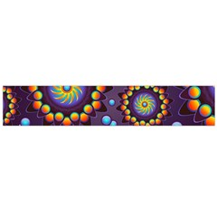 Texture Background Flower Pattern Flano Scarf (Large)