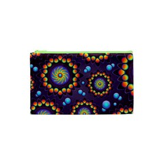 Texture Background Flower Pattern Cosmetic Bag (XS)