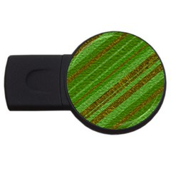 Stripes Course Texture Background USB Flash Drive Round (1 GB)