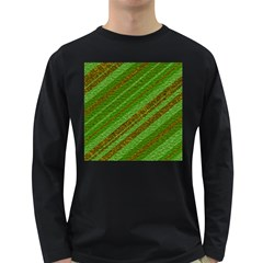 Stripes Course Texture Background Long Sleeve Dark T Shirts