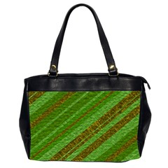 Stripes Course Texture Background Office Handbags (2 Sides)