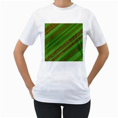 Stripes Course Texture Background Women s T-Shirt (White)