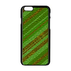 Stripes Course Texture Background Apple Iphone 6/6s Black Enamel Case