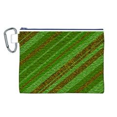 Stripes Course Texture Background Canvas Cosmetic Bag (L)