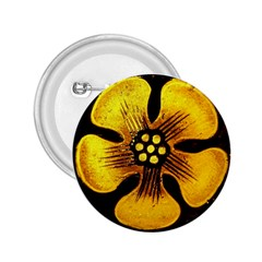 Yellow Flower Stained Glass Colorful Glass 2.25  Buttons